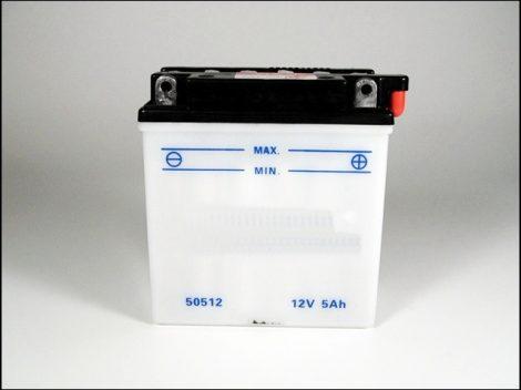 AKKU. 12V  5AH SZÁRAZ 120x62x127 (Motor-robogó alkatrész)