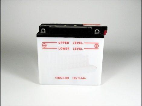 AKKU. 12V  5.5AH SZÁRAZ 138x62x129 (Motor-robogó alkatrész)