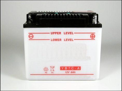 AKKU. 12V  8AH SZÁRAZ 129x90x115 (Motor-robogó alkatrész)