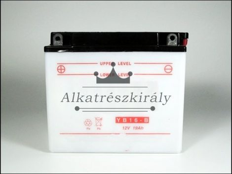 AKKU. 12V 16AH SZÁRAZ 175x100x155 (Motor-robogó alkatrész)
