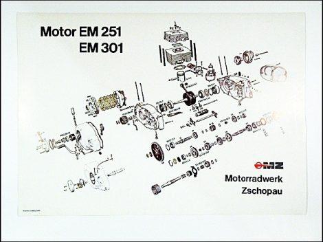 SZERELÉSI ÁBRA ETZ250 (Motor-robogó alkatrész)