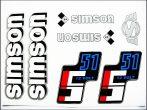 MATRICA KLT. S51 12V FEHÉR-EZÜST-KÉK (Simson alkatrész)