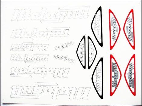 MATRICA KLT. MALAGUTI FEHÉR-EZÜST (Motor-robogó alkatrész)
