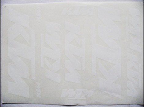 MATRICA KLT. KTM FEHÉR (Motor-robogó alkatrész)